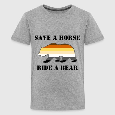 Gay Bear Pride Save a Horse ride a Bear - Kids' Premium T-Shirt