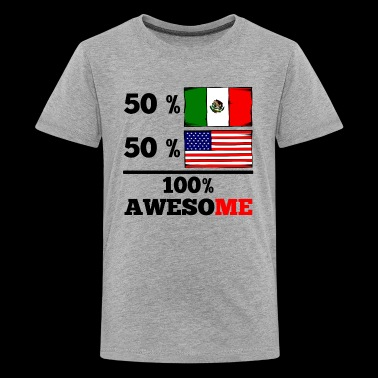 Half Mexican Half American 100% Awesome - Kids' Premium T-Shirt