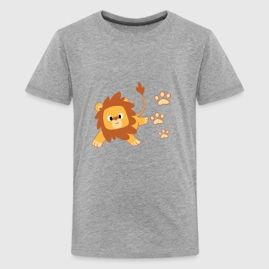 Lion Footprint Design - Kids' Premium T-Shirt