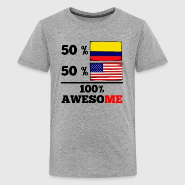 Half Colombian Half American 100% Awesome - Kids' Premium T-Shirt