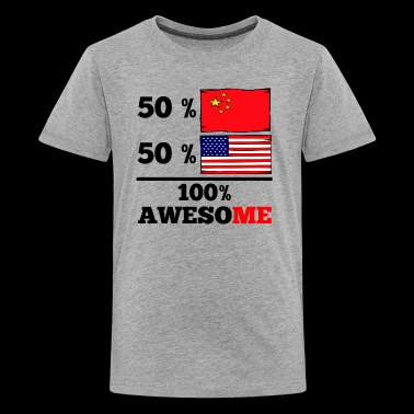 Half Chinese Half American 100% Awesome - Kids' Premium T-Shirt