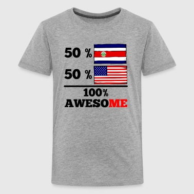 Half Costa Rican Half American 100% Awesome - Kids' Premium T-Shirt