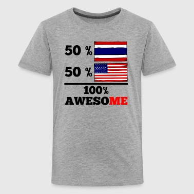 Half Thai Half American 100% Awesome - Kids' Premium T-Shirt