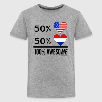 Half American Half Dutch 100% Awesome - Kids' Premium T-Shirt