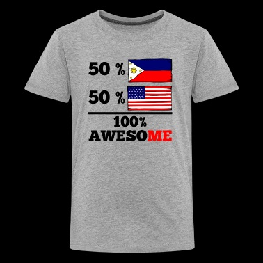 Half Filipino Half American 100% Awesome - Kids' Premium T-Shirt