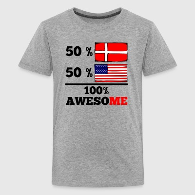 Half Danish Half American 100% Awesome - Kids' Premium T-Shirt
