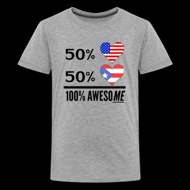 Half American Half Puerto Rican 100% Awesome - Kids' Premium T-Shirt