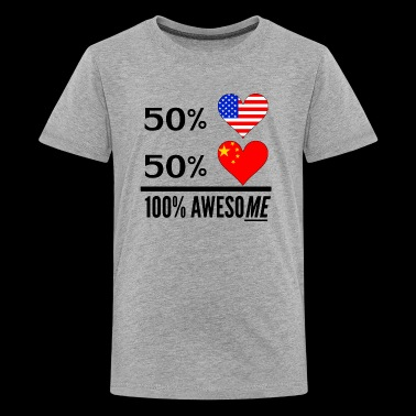 Half American Half Chinese 100% Awesome - Kids' Premium T-Shirt