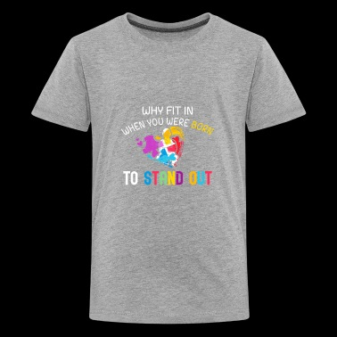 Why fit in when you were born to stand out funny shirts gifts - Kids' Premium T-Shirt