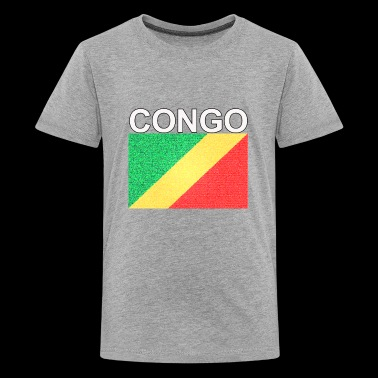 republic of congo flag colored sand effect design - Kids' Premium T-Shirt