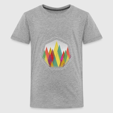 Minimal Geometric Forest Outdoor Nature Gift - Kids' Premium T-Shirt