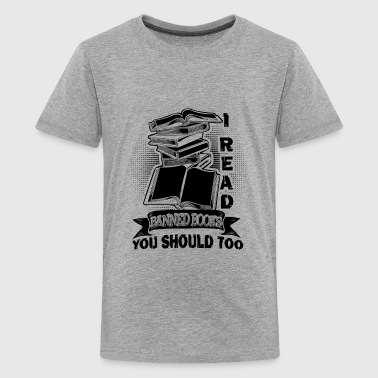 I Read Banned Book Shirt - Kids' Premium T-Shirt