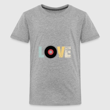 LOVE VINYL - Retro Vintage DJ Music - Kids' Premium T-Shirt