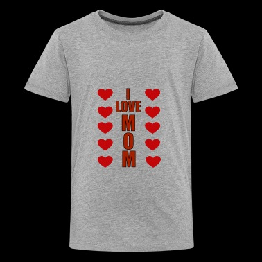 Design words ILOVE MOM FOR KIDS AND BABY - Kids' Premium T-Shirt