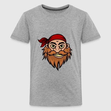 Bearded Pirate Mascot - Kids' Premium T-Shirt