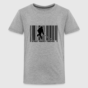 barcode 1 street hockey player - Kids' Premium T-Shirt