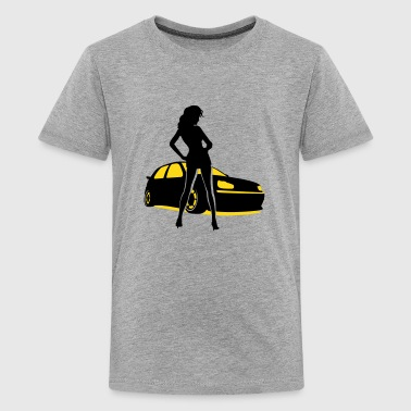 Mk3 Tuning Car Girl - Kids' Premium T-Shirt