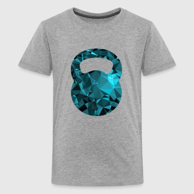 Kettlebell (Low Poly) - Kids' Premium T-Shirt