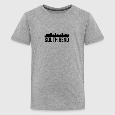 South Bend Indiana City Skyline - Kids' Premium T-Shirt