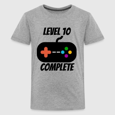 Level 10 Complete 10th Birthday - Kids' Premium T-Shirt