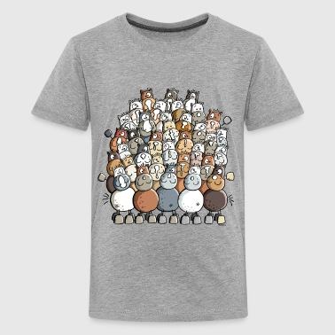 Colorful Pile Of Horses - Horse - Kids' Premium T-Shirt