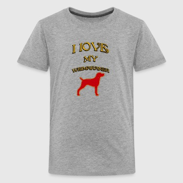 I LOVE MY DOG Weimaraner - Kids' Premium T-Shirt