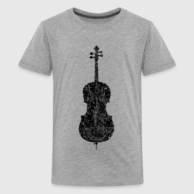 Cello Distressed Black - Kids' Premium T-Shirt