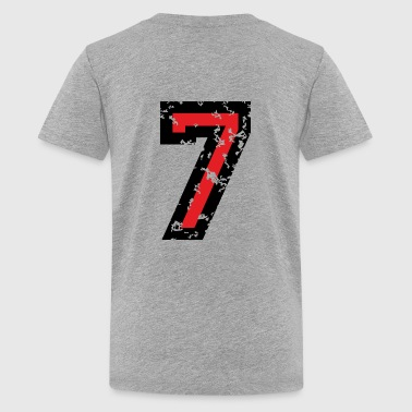 The Number Seven - No. 7 (two-color) red - Kids' Premium T-Shirt
