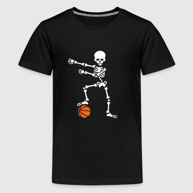 Basketball the floss dance flossing skeleton - Kids' Premium T-Shirt