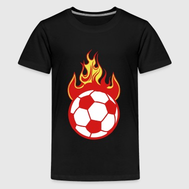 fire flame soccer 1110 - Kids' Premium T-Shirt