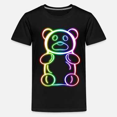 Neon Neon Rainbow Gummy Bear - Kids' Premium T-Shirt