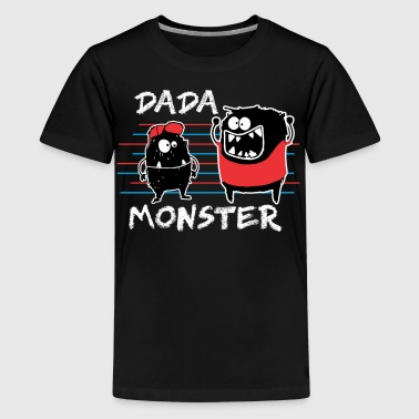 Dada Monster Cute Monster Cartoon for Kids and Dad Dark - Kids' Premium T-Shirt