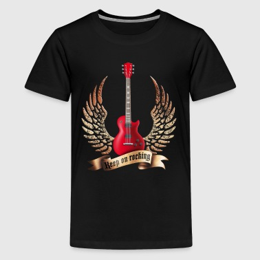 guitars_and_wings_032014_a - Kids' Premium T-Shirt