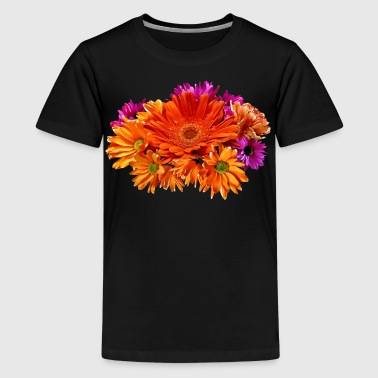Mixed Bouquet With Gerbera Daisy and Mums - Kids' Premium T-Shirt