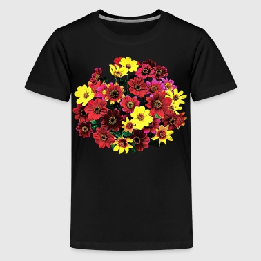 Basket of Single Dahlias - Kids' Premium T-Shirt