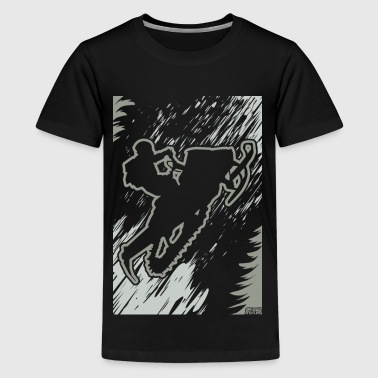Snowmobiling Forest Run - Kids' Premium T-Shirt