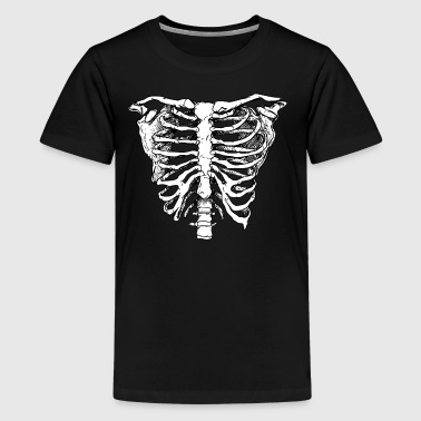 WHITE CREEPY RIB CAGE - Kids' Premium T-Shirt