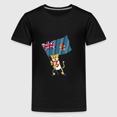 Fiji fan cat - Kids' Premium T-Shirt