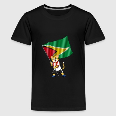 Guyana fan cat - Kids' Premium T-Shirt