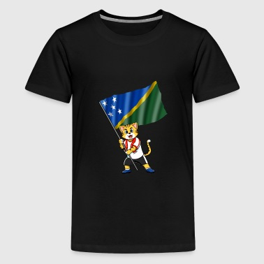 Solomon Islands fan cat - Kids' Premium T-Shirt