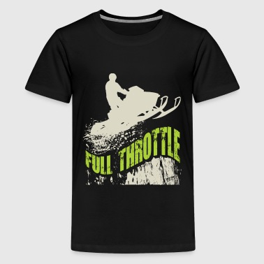 Snowmobile Full Throttle - Kids' Premium T-Shirt