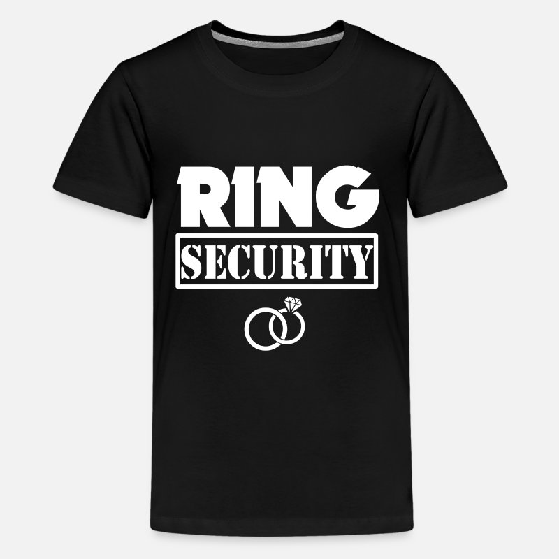 Ring Bearer Shirt T-Shirts - Ring Security Funny Boys Ring Bearer Shirt - Kids' Premium T-Shirt black