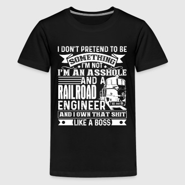 Badass Railroad Engineer Shirt - Kids' Premium T-Shirt