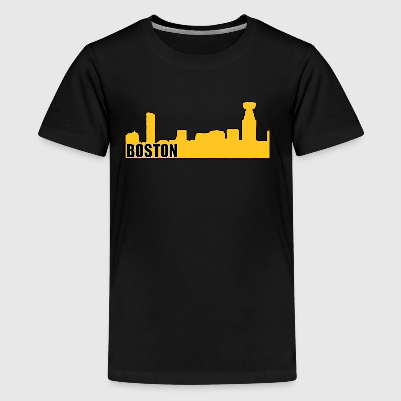 Boston Bruins Hockey Cup Skyline Apparel - Kids' Premium T-Shirt
