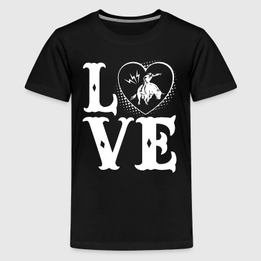 Love Bull Riding Shirt - Kids' Premium T-Shirt