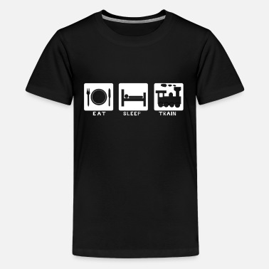 Trains Eat, sleep, train - Kids' Premium T-Shirt