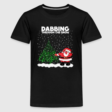 Cute Funny Dabbing Through the Snow - Kids' Premium T-Shirt