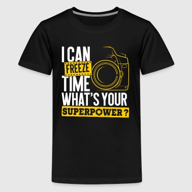 Time Superpower Photographer Photography Camera - Kids' Premium T-Shirt