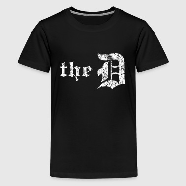 I Love D Vintage Distressed Detroit The D - Kids' Premium T-Shirt