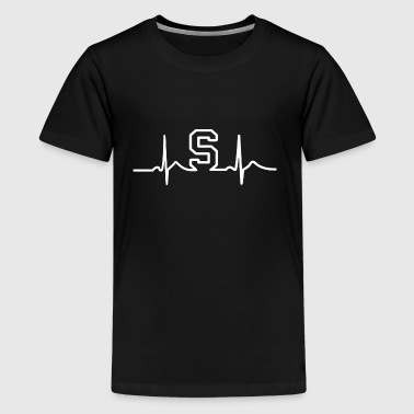 MSU State Heart Beat Pulse - Kids' Premium T-Shirt